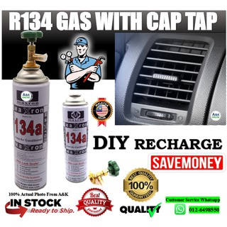 1x Car Air Conditioning Refrigerant Recharge Gas Pressure Gauge
