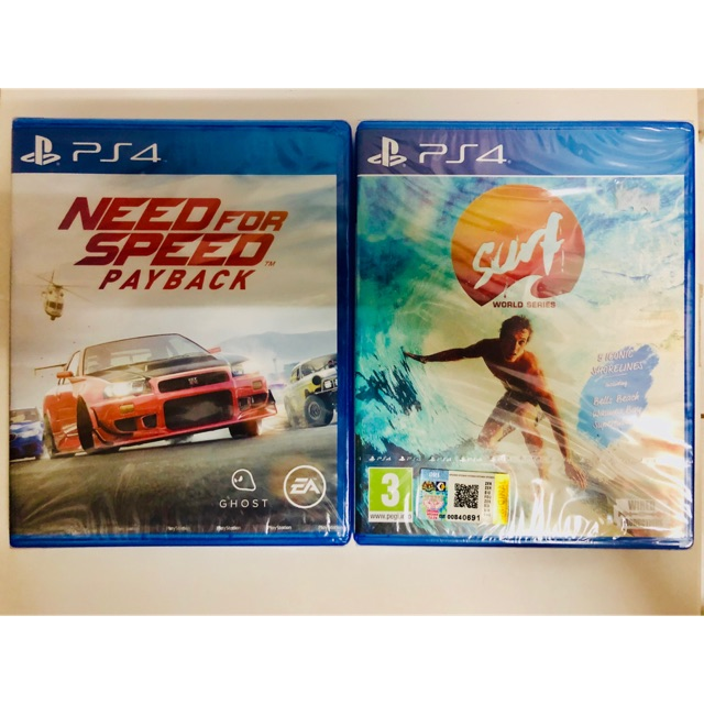 Ps4 Need For Speed Payback And Surf World Champions Shopee Malaysia