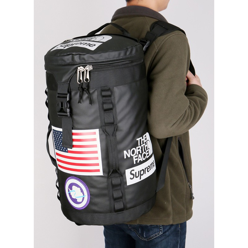 4a5c3f4ce Spot The North Face & Supreme Waterproof Sports Backpack Travelling bag