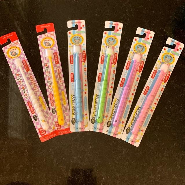 แปรงสีฟัน360องศา STB แปรงญี่ปุ่น แปรงสีฟันเด็ก เด็กเล็ก เด็กโต มี 2