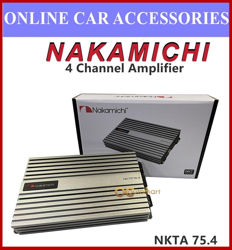 NAKAMICHI 1800 Watts 4 Channel Car Amplifier NKTA 75.4 High Power Amplifier