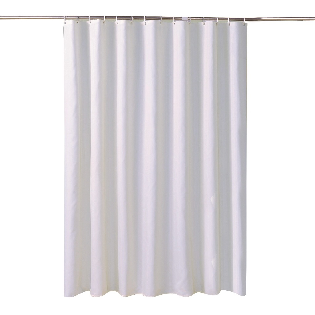 Jarlhome Jarlbc057 White Shower Curtain Hotel Waterproof Hanging Cloth Shower Curtain Customizable Bathroom
