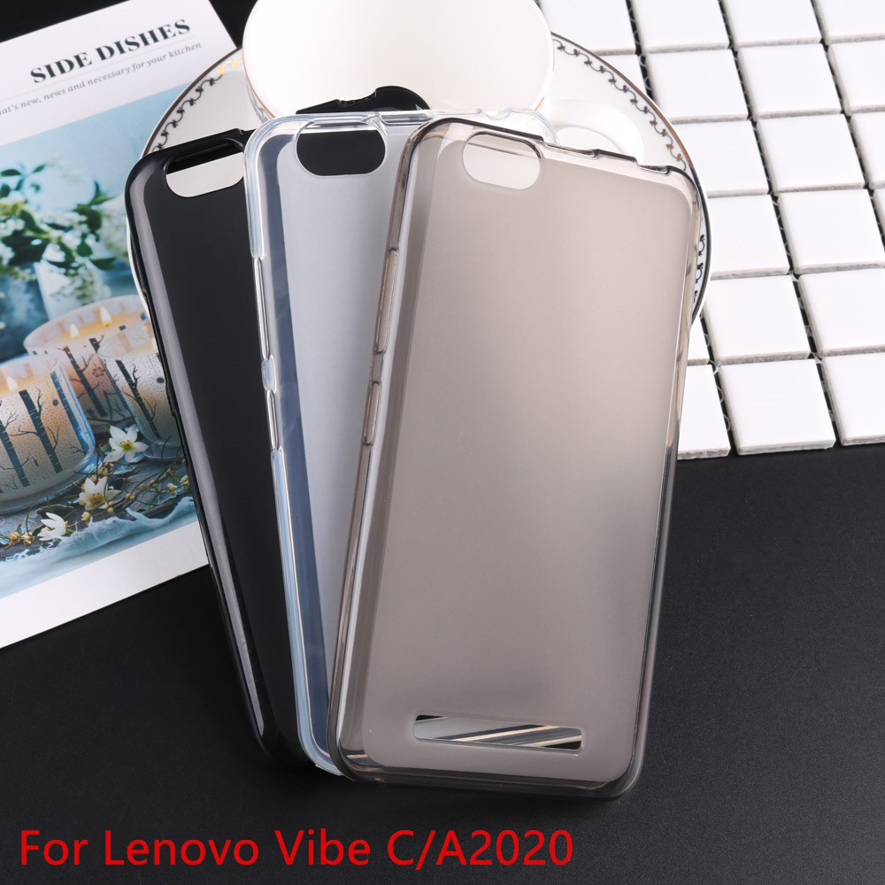 Soft TPU Silicone Phone Back Protector Rubber Case Cover For Lenovo Vibe C  A2020