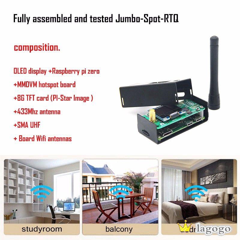 US MMDVM Hotspot P25 DMR YSF+Raspberry Pi Zero+OLED+Antenna+Case+8G Card LO