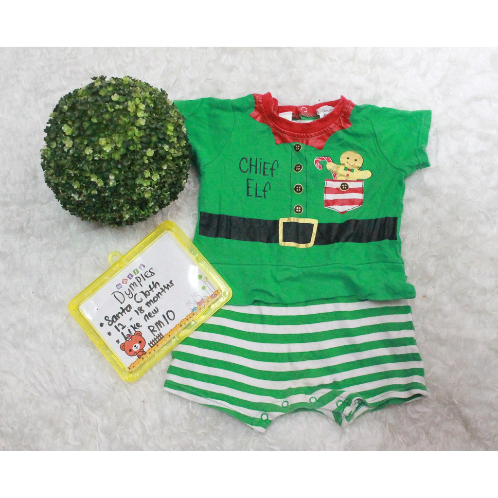 49649843d8a0 Dymples- Santa Cloths Rompers