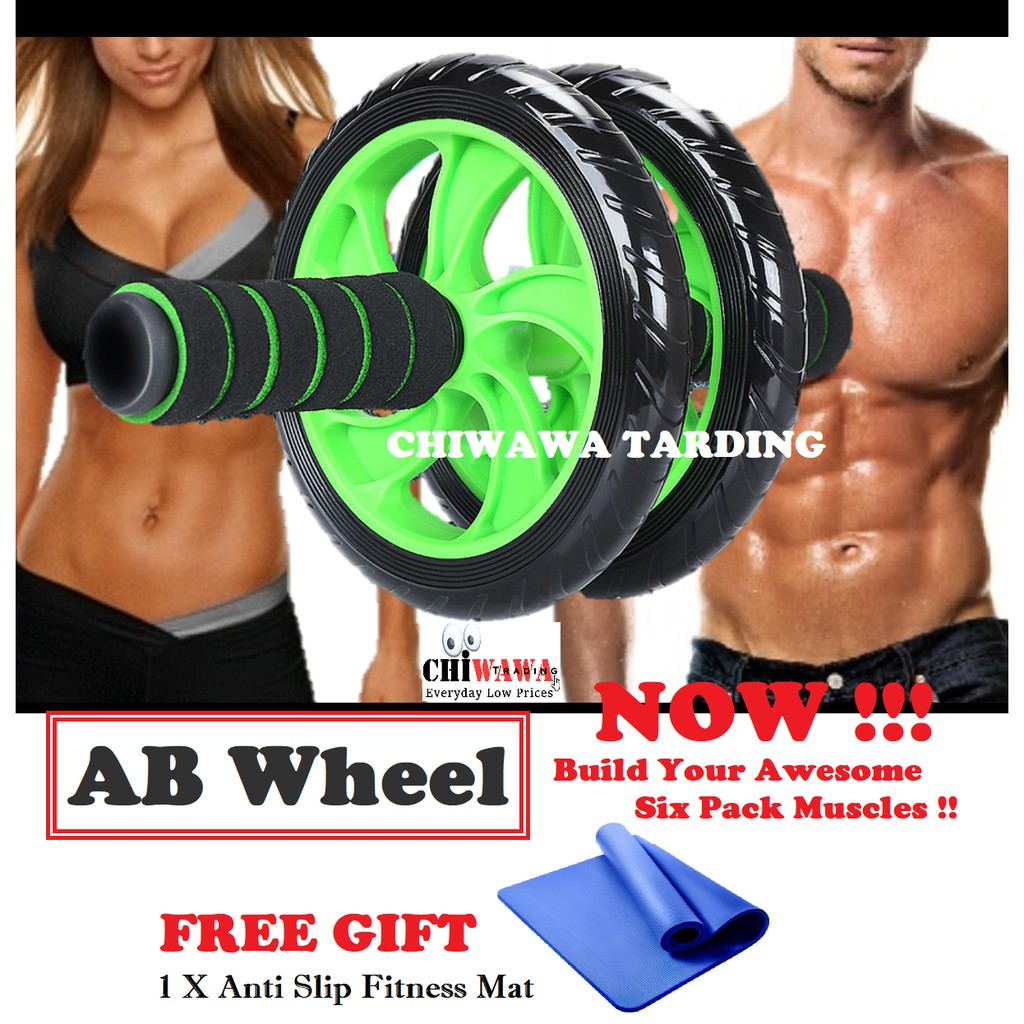 Wheel Abdominal Ab Roller With Mat Exercise Fitness Equipment Training Muscle
