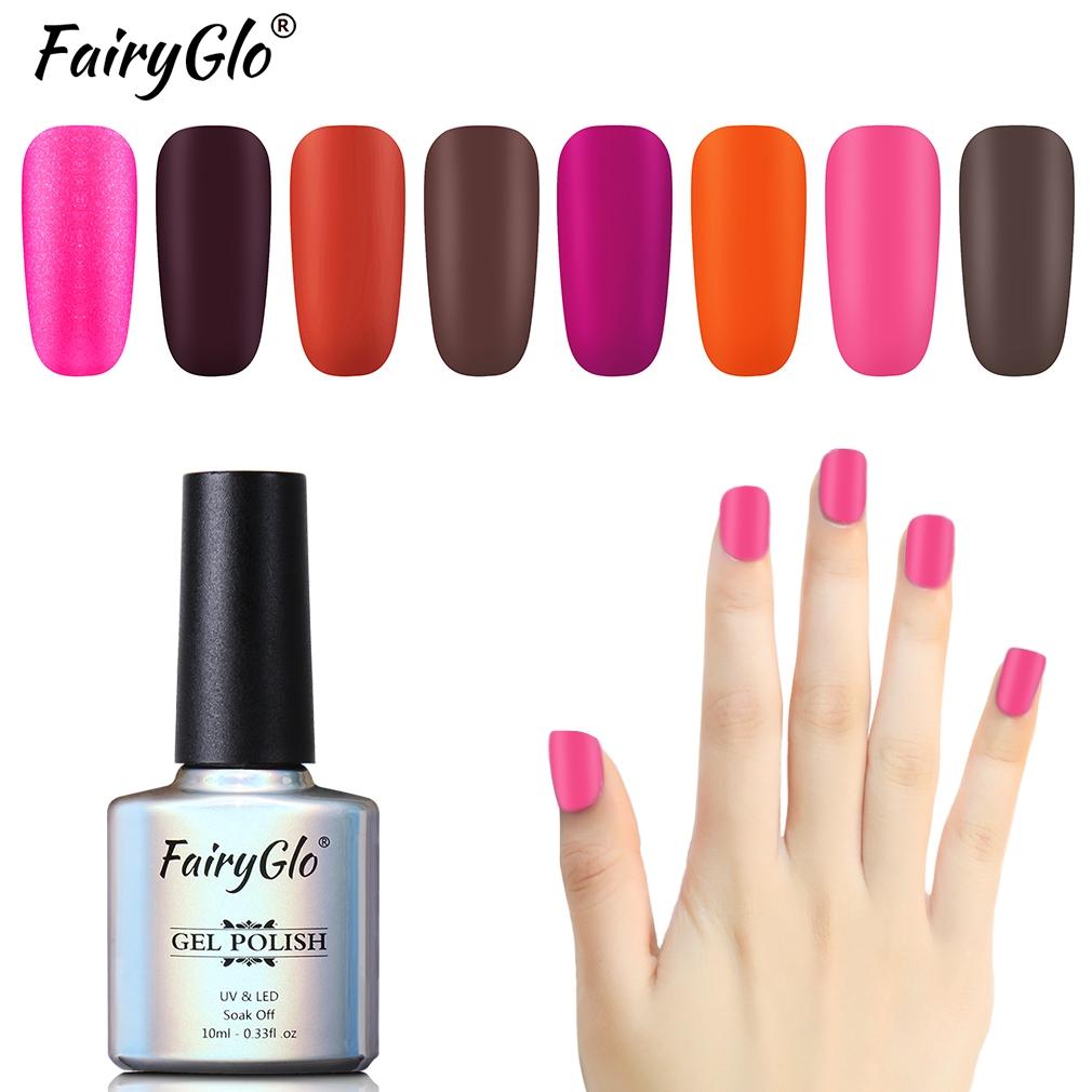 Fairyglo One Step Matte Gel Polish Matte Nail Polish Cosmetics Nail Lacquer 10ml