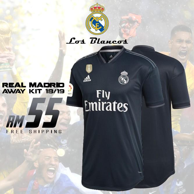sale retailer b51b7 8dd28 Real Madrid Away Kit 2018/2019