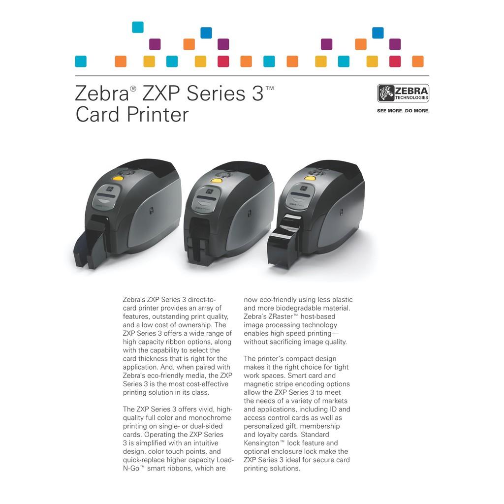Zebra ZXP Series 3 Card Printer ,300dpi, single-sided | Shopee Malaysia