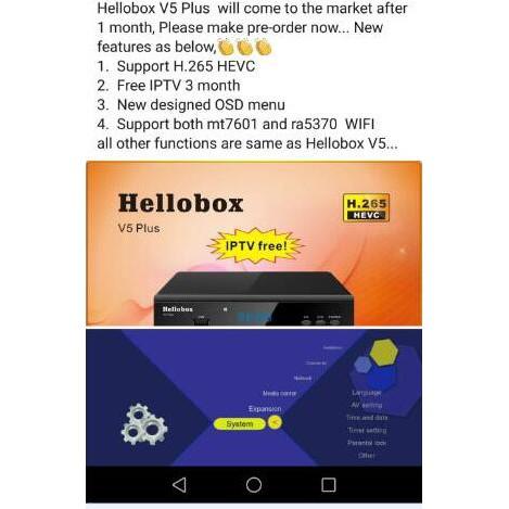 Hellobox V5 Plus Receiver support PowerVu IKS Biss fully autoroll