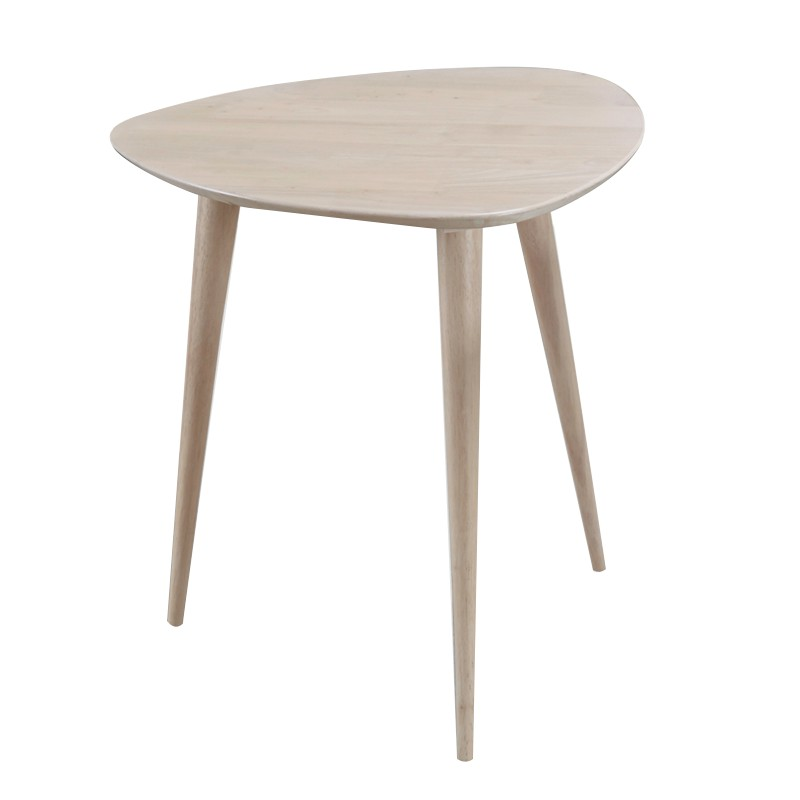 Furniture Direct BETTY FULL SOLID WOOD TRIANGLE SIDE TABLE