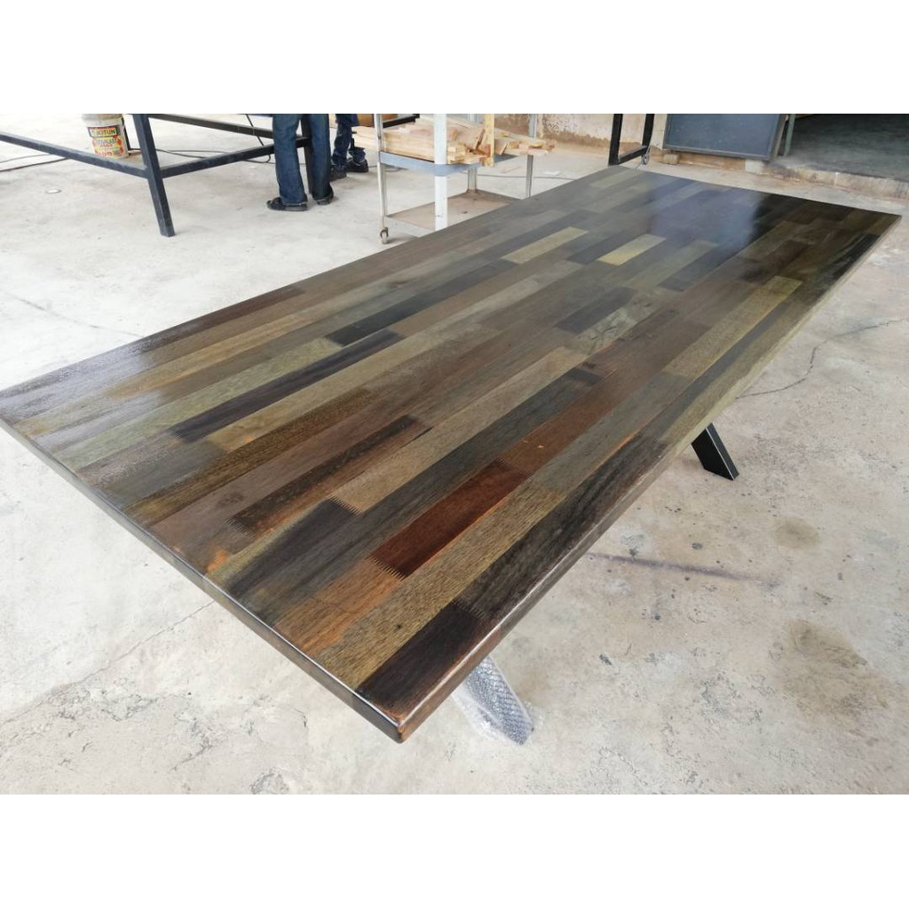 Meranti Dining Table 7ft X 3ft X 2 5ft Charcoal Shopee Malaysia
