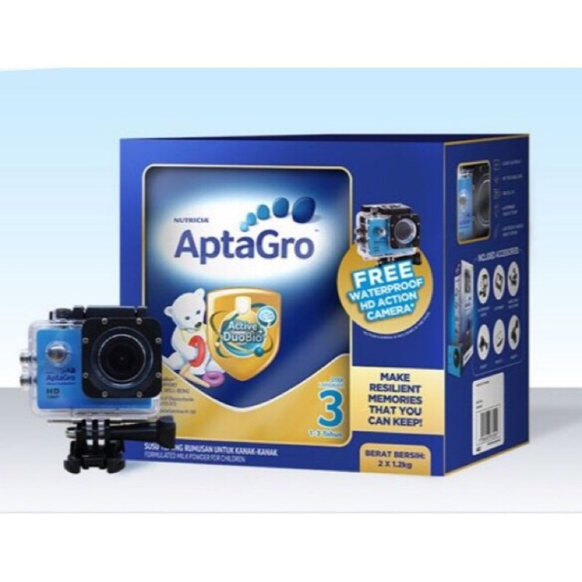 (Only Camera) Aptagro Resilience Waterproof HD Action Camera 1080PHD