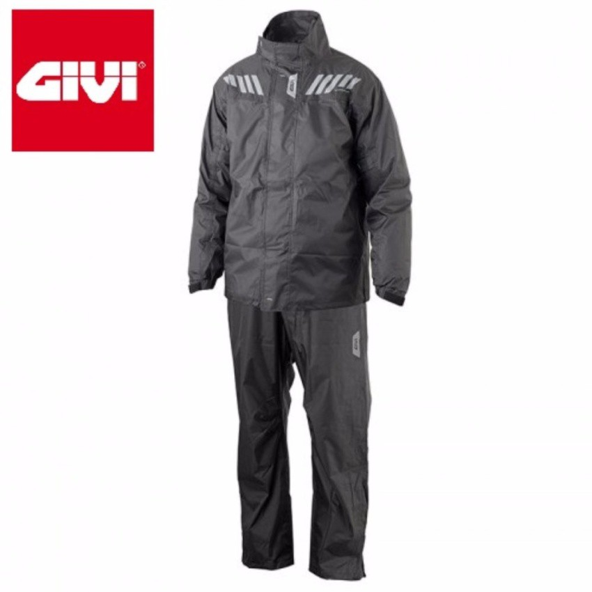 Raincoat GIVI RRS04 Rainsuit - Black/Red/Blue (Size S-3XL) on