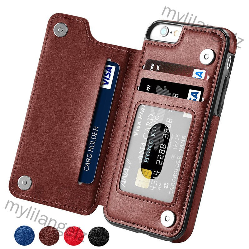 Mylilangelz Multifunction Magnetic Leather Wallet Case Card Slot Shockproof Full Protection Cover for iPhone X 7/8 7/8 P