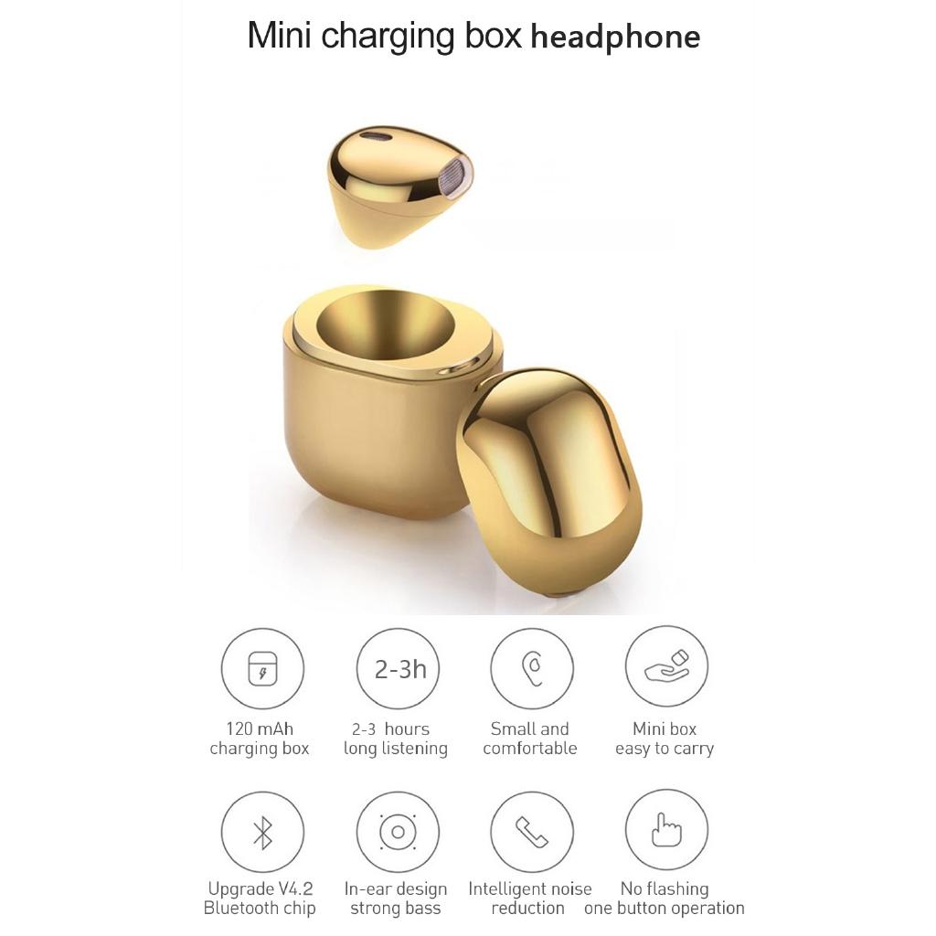 f2370581d34 Mini IP8 TWS Bluetooth Earphones True Wireless Earbuds Stereo Music Headsets