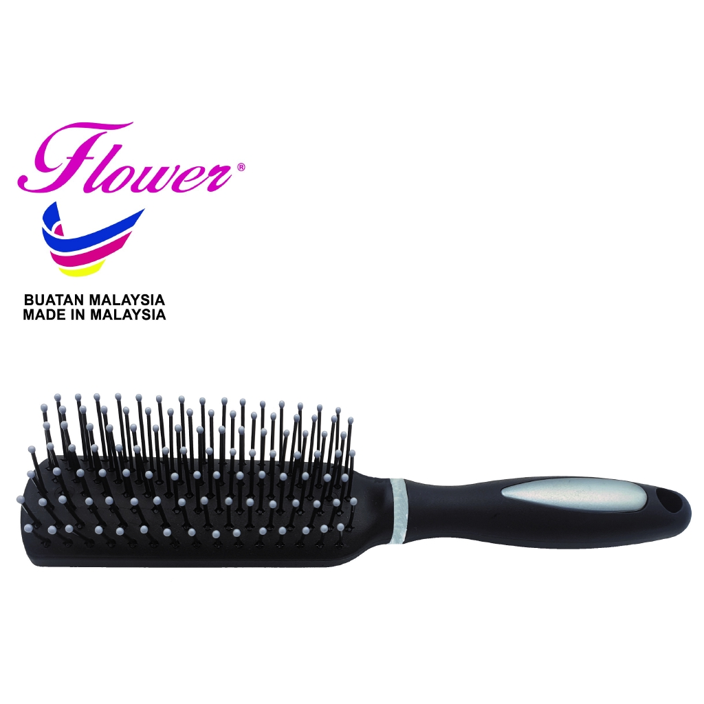 Flower Nylon Brush for hair blowing Made in Malaysia (Sikat/Berus Rambut/Balung/Sisir)