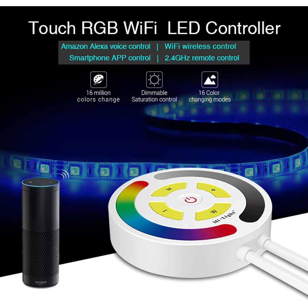 Mi Light YL1 Touch RGB WiFi LED Controller 2 4GHz Wireless Controller  DC12-24V