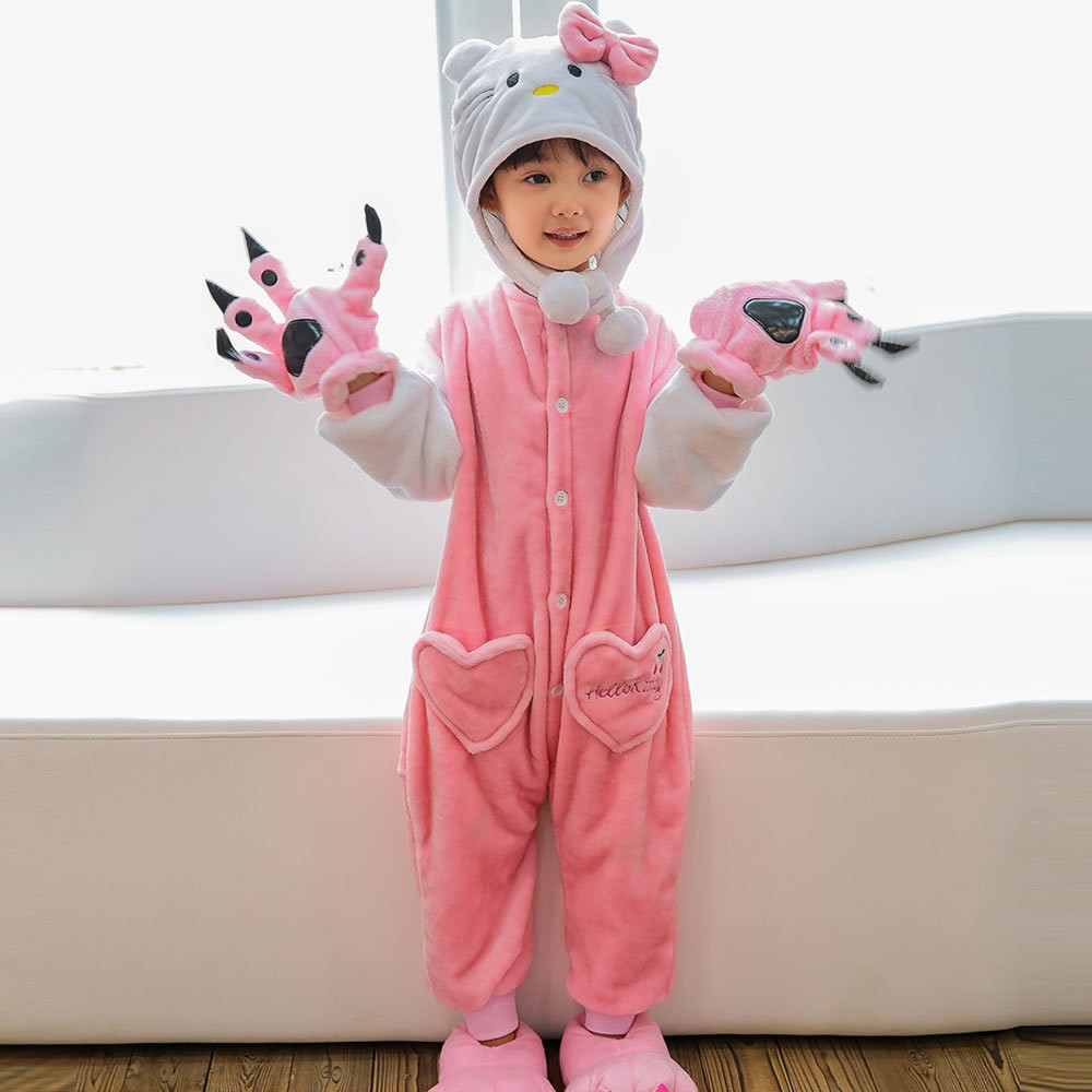 6320fa4d029fb4 Kids Boys Girls Kigurumi Animal Cosplay Costume Pajamas Sleepwear Pyjama  Nightwear