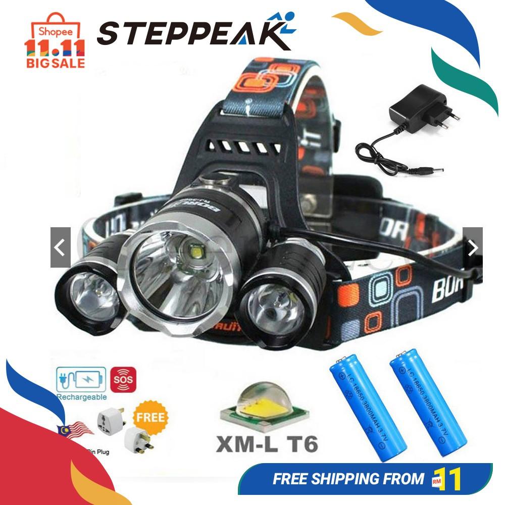 35000Lumen 5x XM-L T6 LED Headlamp Headlight Flashlight Head Light 18650 Torch