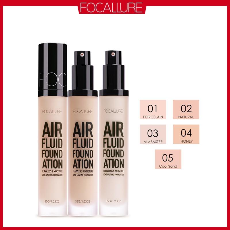 FOCALLURE Air Fluid Long Lasting Liquid Foundation - 5 Colors