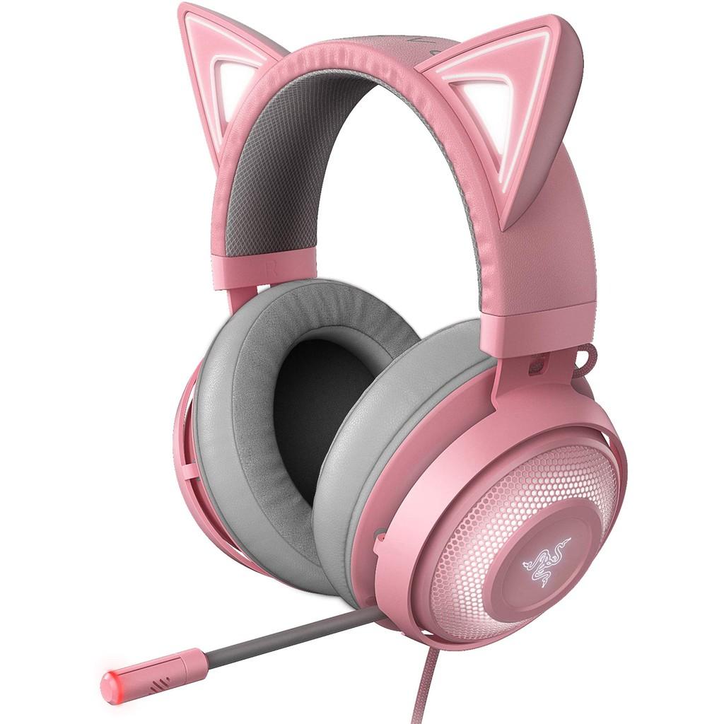 Razer Kraken Kitty Chroma RGB Lighting Classic Gaming Headset (Black/Pink)