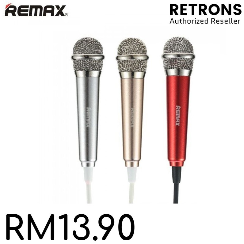 Remax Sing Song K RMK-K01 Small Mini Karaoke Microphone Red Gold Silver [ Clearance ]