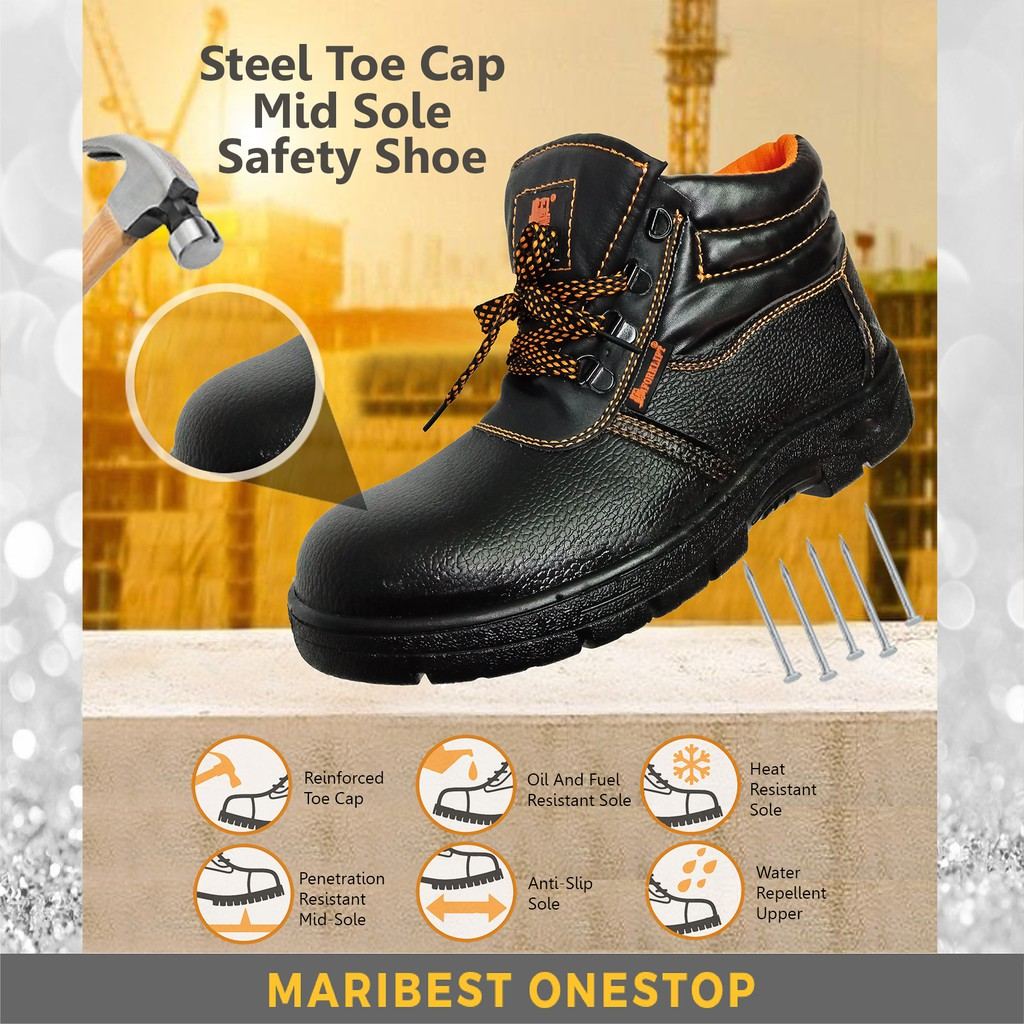 fc670d89bd ProductImage. ProductImage. Safety Shoe Steel Toe Cap Mid Sole Medium Cut  Black