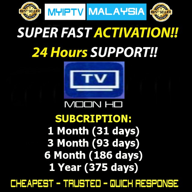 MOONHD / MOONTV Authorised Dealer (FAST ACTIVATION)