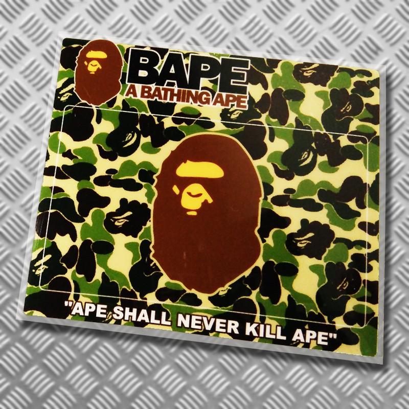 Bathing Ape Logo Vinyl Sticker