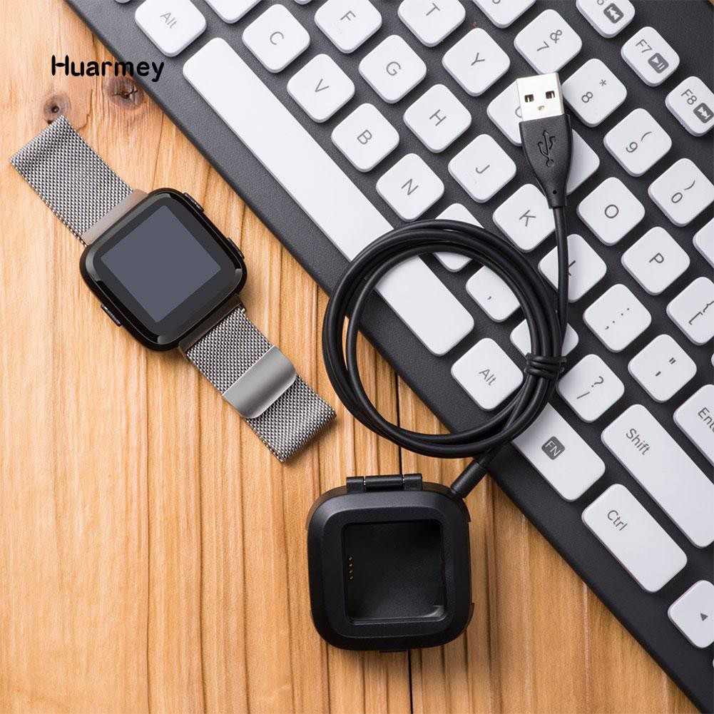 ★Hu Replacement USB Charging Data Dock Cable Cord Box for Fitbit Versa Smart Watch