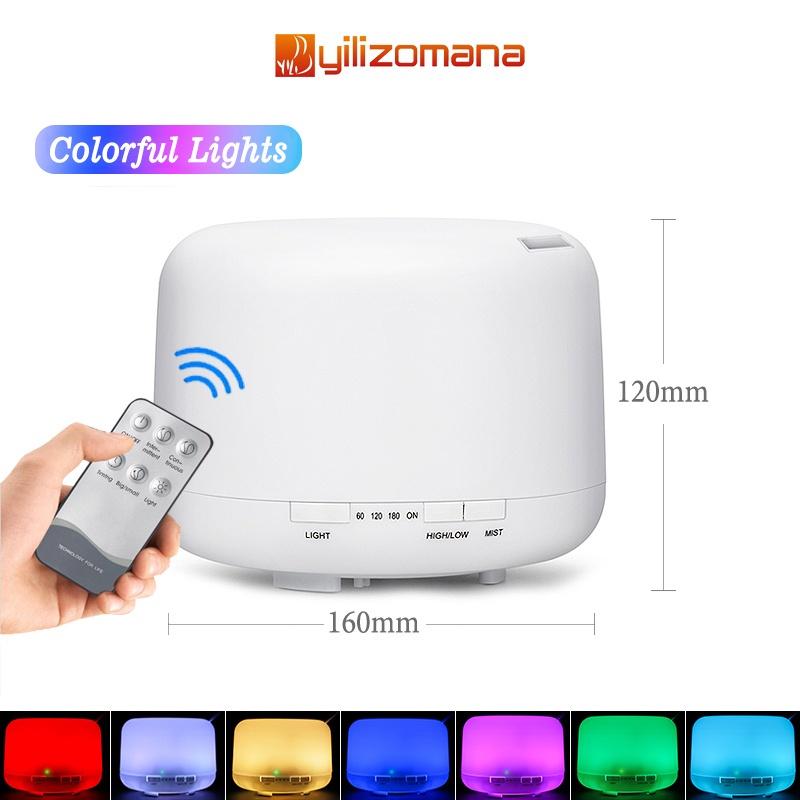 Yilizomana Air Diffuser for Essential Oil Air Purifier Aromatherapy Air Humidifier (500ml) [Free Remote]