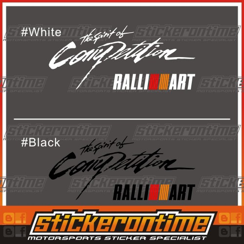 SPIRIT OF COMPETITION sticker decal vinyl mitsubishi evo ralliart mirage colt rs