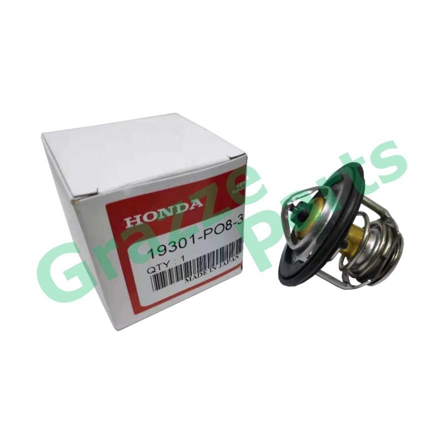 Coolant Thermostat + Sealing Ring for 19301-PO8-305 Honda Accord SM4 Civic SR4