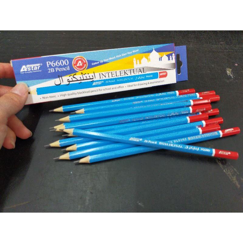 [ Offer ] Astar 2B Pencil 12pcs/box P6600 Intelektul/P7700 Bestari