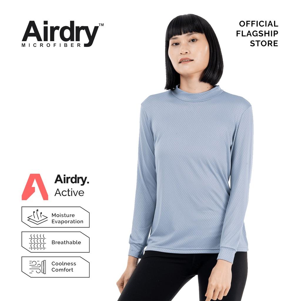 AIRDRY Unisex Microfiber Esco High-Neck Long Sleeve (Royal Blue / White / Black / Grey) 3DHNLS3001