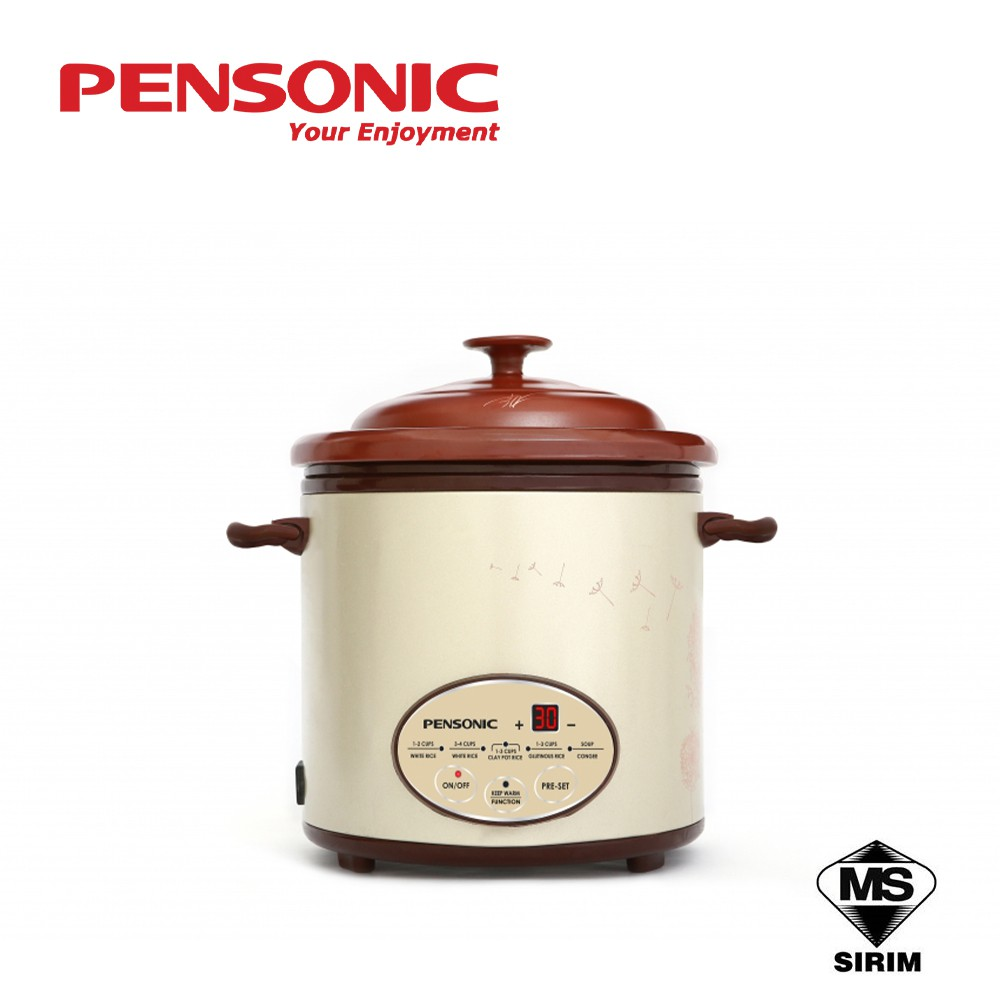 Pensonic Longevity Purple Clay Multipurpose Rice Cooker PRC-20AC