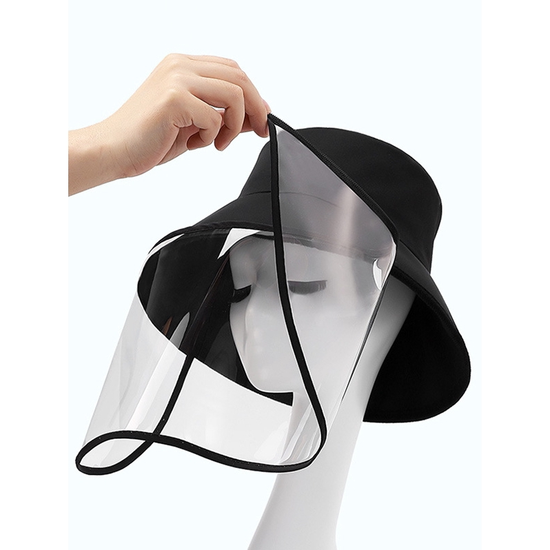 Detachable Face Shield Outdoor Protective Bucket Hat