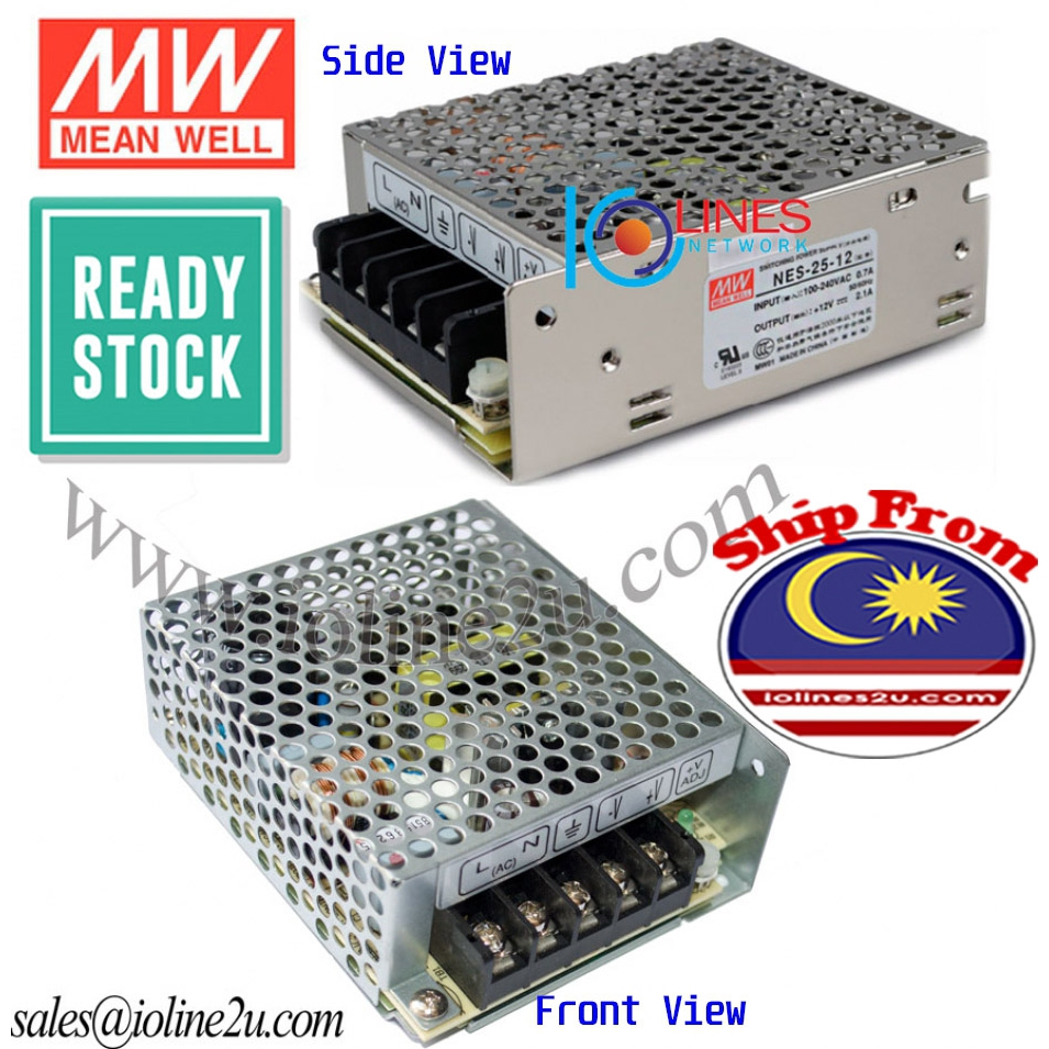 MW Mean Well NES-25-5 5V 5A 25W Single Output Switching Power Supply