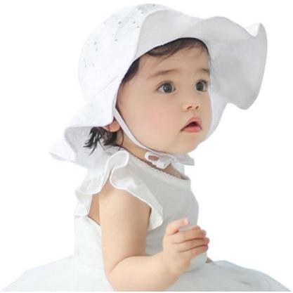 6136139dc 1-4 Years Old Kids Soft Cotton Sun Cap Summer Baby Hats Beach Sunhat