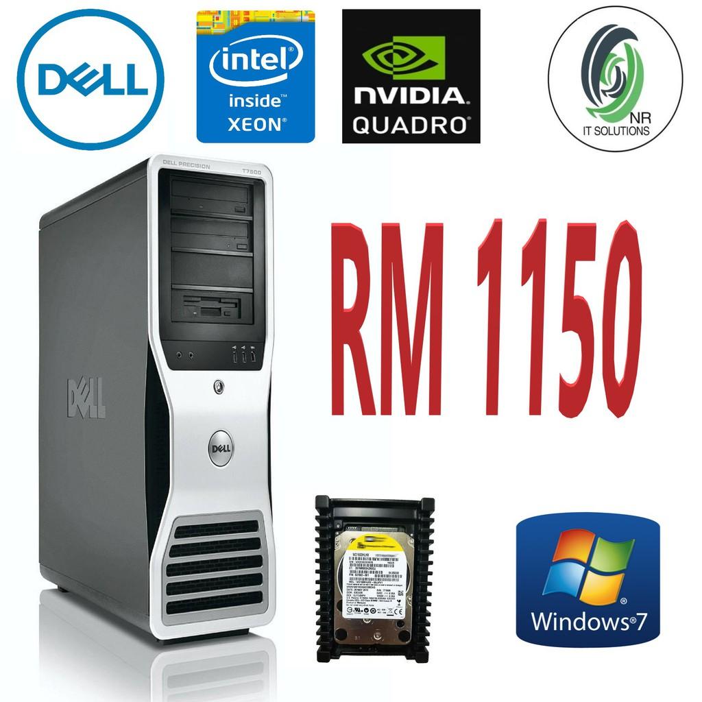 Dell Precision T7500 Workstation(Intel Xeon 2 40GHz- E5620/8GB RAM/160GB  10K RPM HDD/Win7Pro
