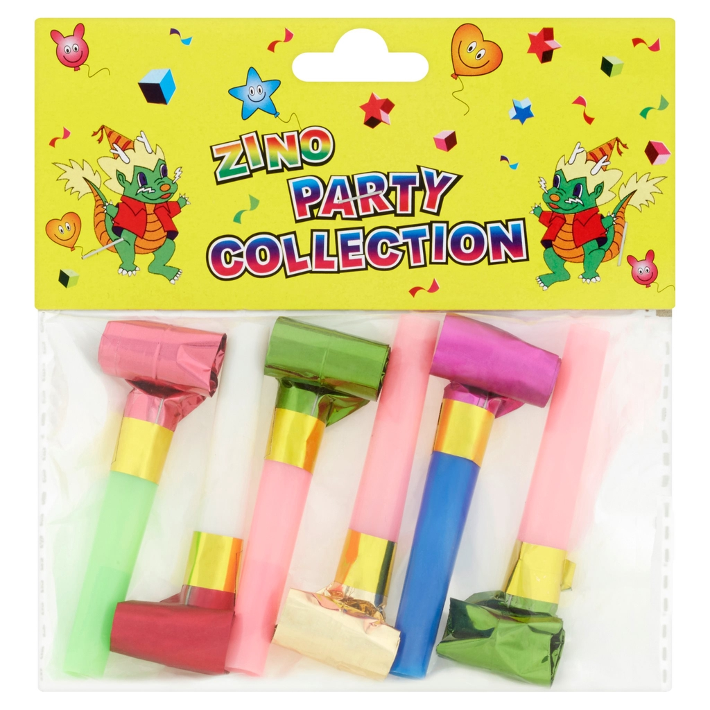 Zino Party Collection Paper Blow Out 6Pcs