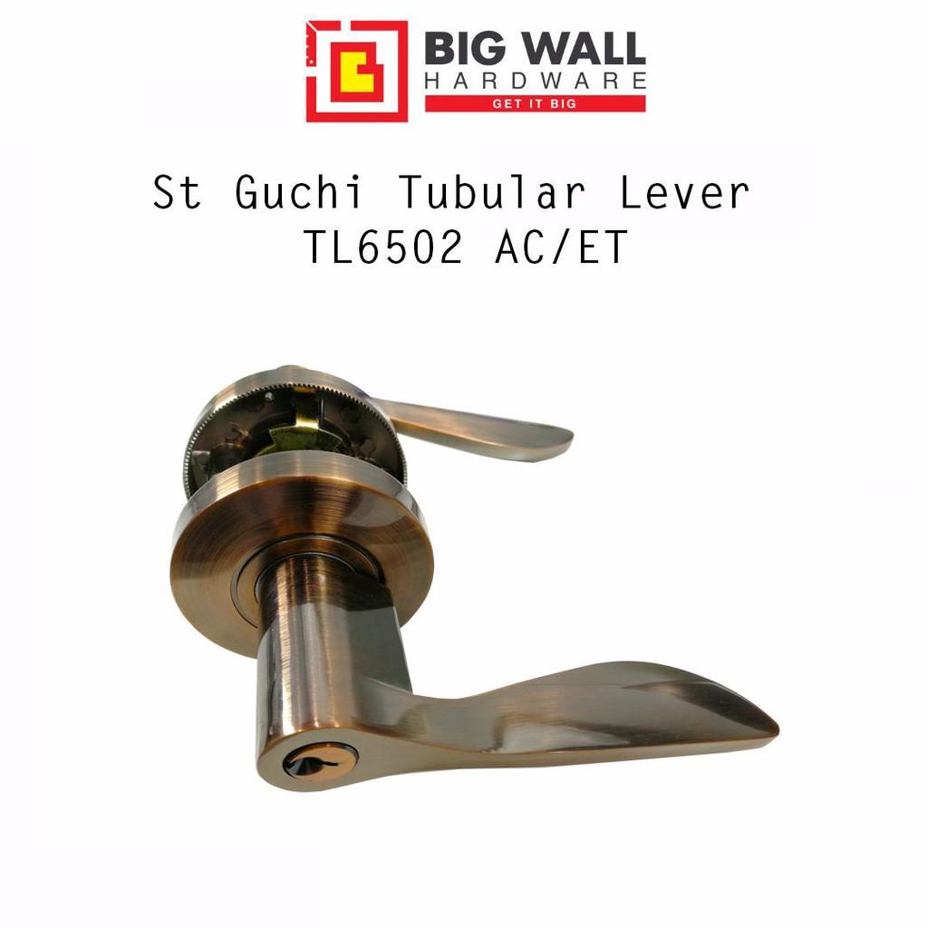 St Guchi Tubular Lever Set TL6502 AC/ET  (Heavy Duty) Bronze colour