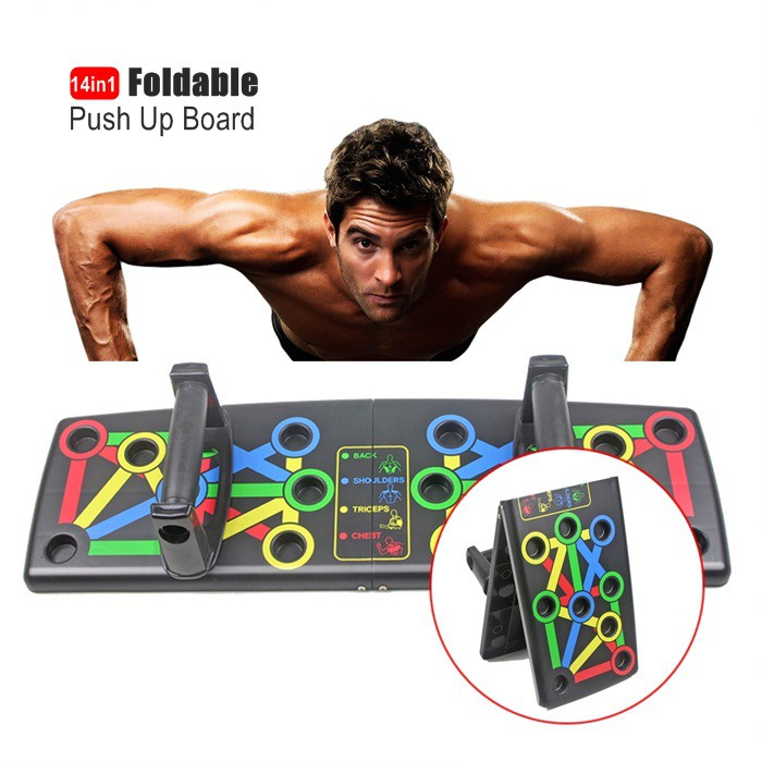 MALAYSIA: 6 PACK BUILDER/ ALAT EXERCISE / GYM DI RUMAH / Push Up board Push Up bar Rack Board 14 in 1 Board