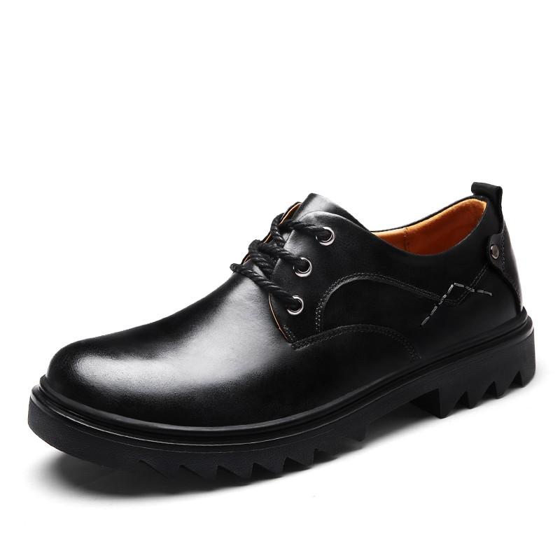 รองเท้าหนังลูกวัวแท้ Lace-Up รองเท้าผู้ชายรองเท้ามา