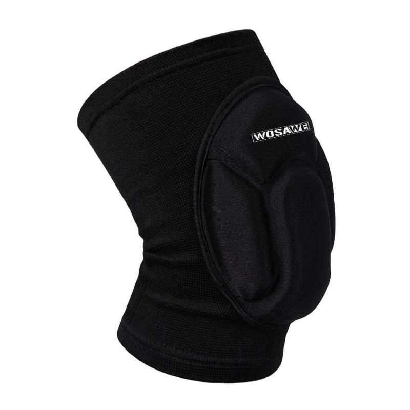 Wosawe Knee Guard Sleeve Pad Basketball Pad Protector Elastic with Good Permeability (black)