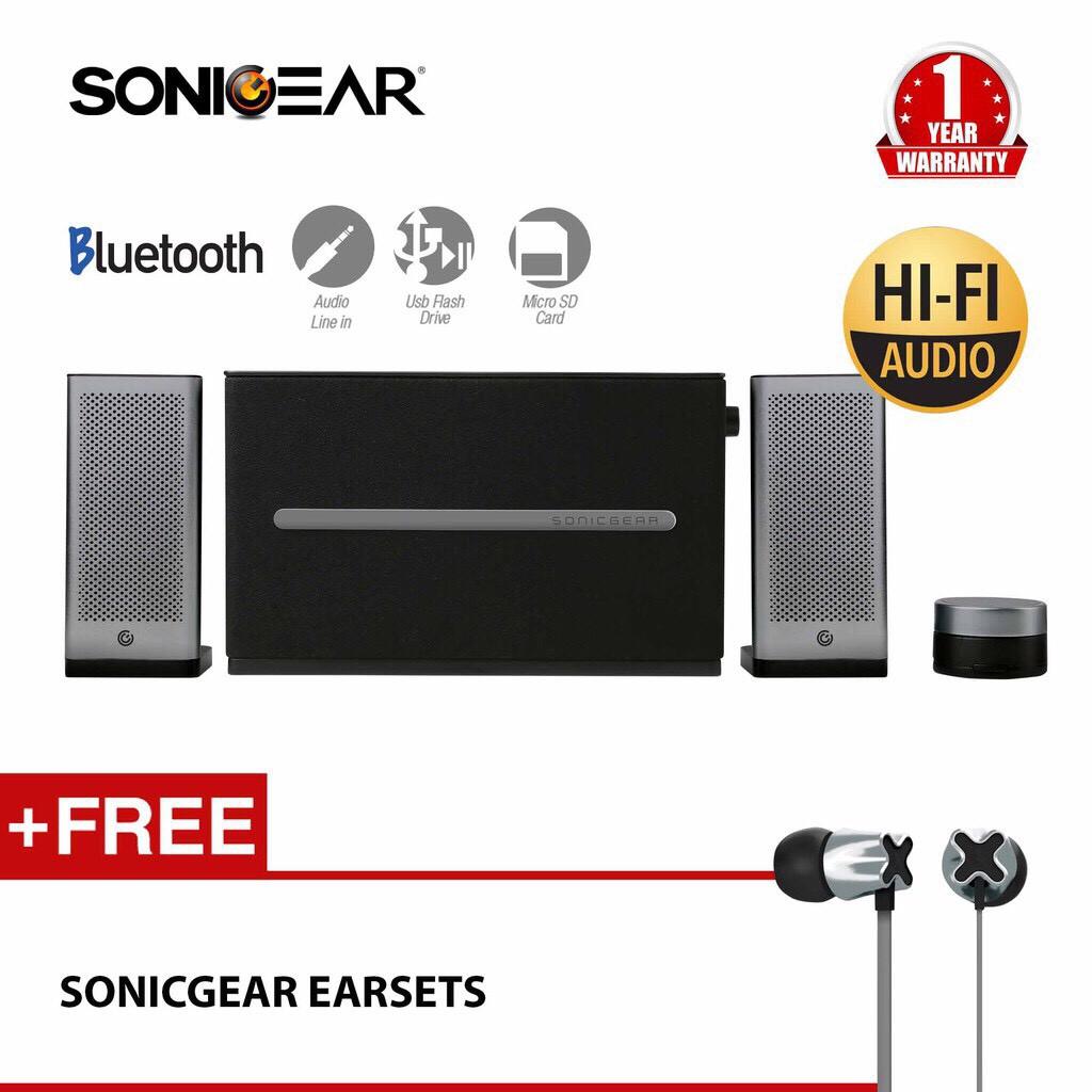 Free Microphone Sonicgear Evo 7 Pro Btmi Bluetooth Speaker Shopee Sonic Gear 9 Memory Card Usb Radio Fm Malaysia