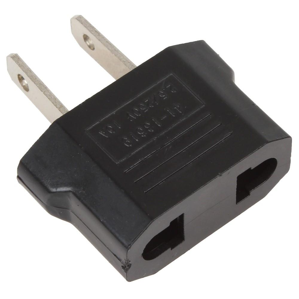 Black US Travel Plug Adapter