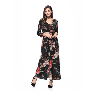 4b4f6a73805db Hollow out hook flower bud silk long sleeve skirt cultivate one's ...