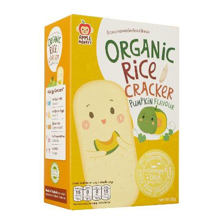 Apple Monkey Organic Rice Cracker-Pumpkin 30gm